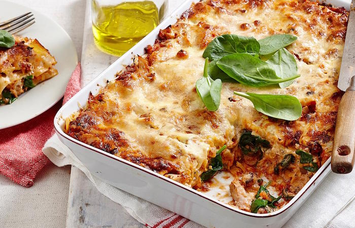 Chicken and chorizo lasagne