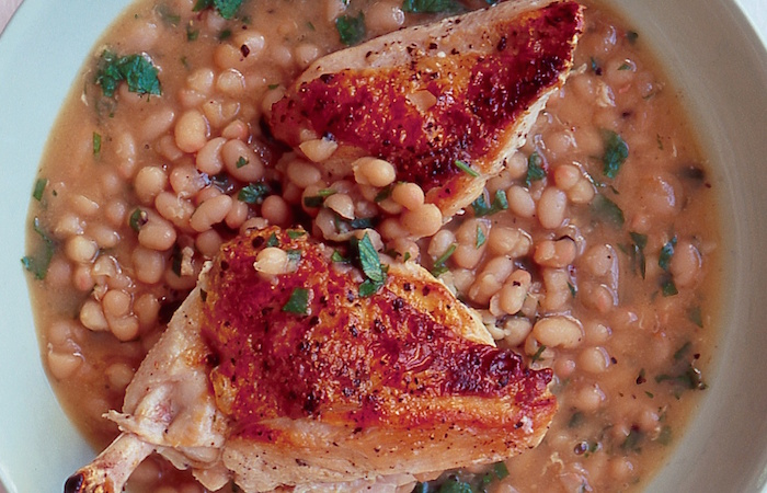 Chicken with Haricot Beans
